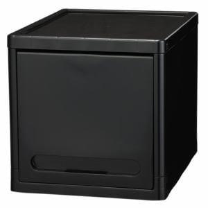 PCフラップ式チェスト フラップラックテオス ブラック 1段