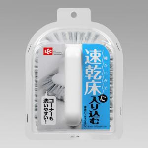 風呂掃除 レック 床用ハンディブラシ S-527 ホワイト 幅12.0cm 奥行15.0cm 高さ8.0cm