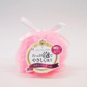リボン バスボール  ピンク 1個