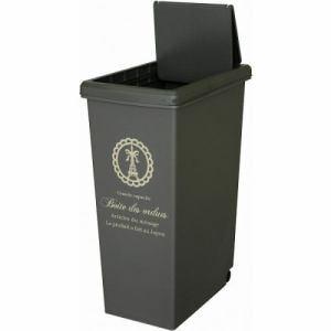ゴミ箱 30L フタ付き スリム キャスター付き  平和工業 スライドペール ブラウン