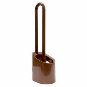 トイレ清掃 トイレブラシ ケース付き ヨコズナクリエーション フロート ブラウン 幅9.2×奥行12.7×高さ38.5cm