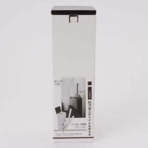 トイレブラシ 防汚加工トイレ対応 アイコンポ ダークブラウン 1セット