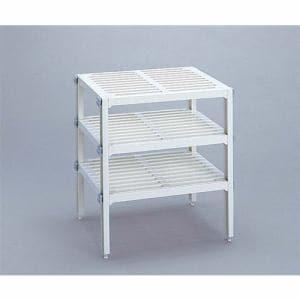 伸晃 キッチン3段フリーラック PS-485 ホワイト 幅37×奥行き30×高さ40cm