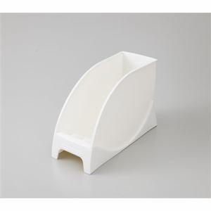 伸晃 大皿スタンド SD-OS ホワイト 幅10×奥行き25×高さ16cm