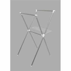 アイリスオーヤマ 簡単組立ステンレス室内物干し H-70X  幅70×奥行78×高さ130cm