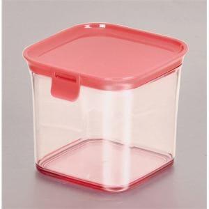 パール金属 モデュールプラス キャニスター<M> HB-2232 ピンク (約)幅11.5×奥行12×高さ10.5cm
