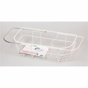 パール金属 アレスタ シンクスライド式水切りバスケット HB-2497 ホワイト