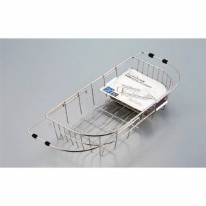 パール金属 デュアリス 18-8ステンレス製シンクスライド式水切りバスケット<ワイド> H-5644 ステン