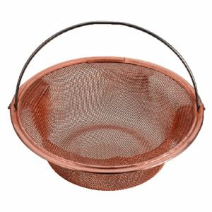 パール金属 アクアスプラッシュ 純銅排水栓ネット13㎝ H-9203銅