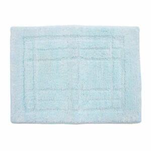 オカ バスマット 洗えるバスマット クリュム ブルー 縦:約36cm×横:約50cm 1枚