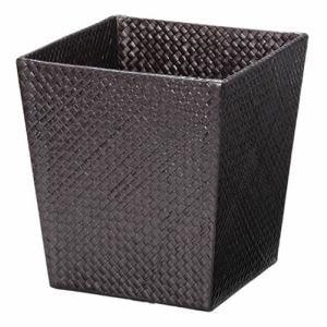 ゴミ箱 おしゃれ スクエア形30-94DBR ブラウン 幅25×奥行25×高さ27