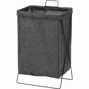 [幅37×奥行27×高さ60cm] ランドリーバスケット 大容量 おしゃれ 折りたたみ収納 スリム ゴミ箱 おもちゃ入れ グレー