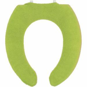 ヨコズナクリエーション カラーショップ 便座カバーU型  グリーン 幅24×奥行35×厚み1cm