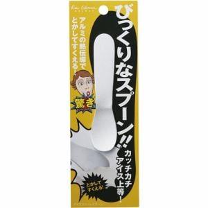 貝印 手の熱で溶かしてすくうアイスクリームスプーン 000FA5152 シルバー 幅6×奥行き0.5×高さ17.5cm