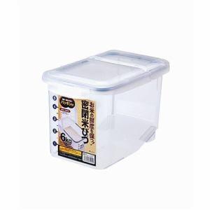 アスベル 密閉米びつ6㎏(パッキン付)クリア 6kg用