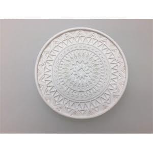 珪藻土デザインコースター  ホワイト 直径10xD0.9cm