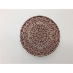 珪藻土デザインコースター  ブラウン 直径10xD0.9cm