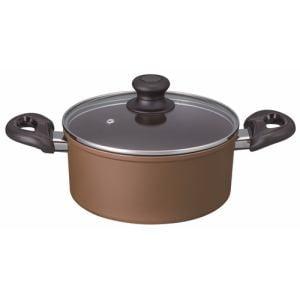 アリエッタ IH両手鍋 ベストコ ND-5492 ブラウン 18CM