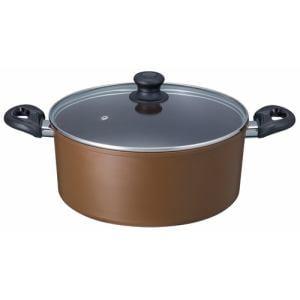 アリエッタ IH煮込み鍋 ベストコ ND-5495 ブラウン 28CM
