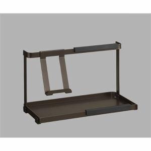 伸晃 HANDY ZONE タブレットスタンド MA-1003 ブラウン 幅29×奥行き13.6×高さ18.5cm