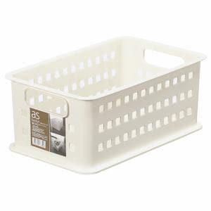 [幅21.5×奥行34.5×高さ14.5cm] 収納ケース 小物ケース プラスチック PCボックスケース asバスケット アイボリー #1