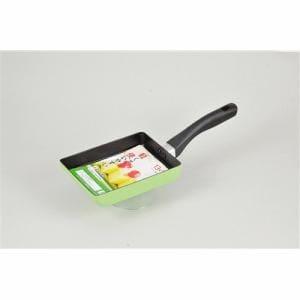 ガス火用 フライパン デリシュ フッ素加工 玉子焼き用 (HB7873) グリーン 13cm×18cm