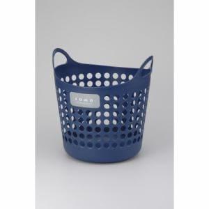 [幅35×奥行35×高さ36.4cm] コモバスケットL 柔らかいランドリーバスケット おもちゃ入れ 収納 ネイビー