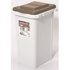 ゴミ箱 45リットル 大容量 フタ付き ジョイント式ペール ライトブラウン