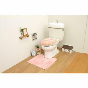 トイレ2点セット(トイレマット+洗浄・暖房用フタカバー)ピンク サンベルム(株)