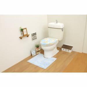 トイレ2点セット(トイレマット+洗浄・暖房用フタカバー)ブルー サンベルム(株)