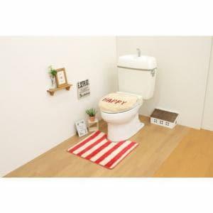 トイレ2点セット(トイレマット+洗浄・暖房用フタカバー)レッド サンベルム(株)