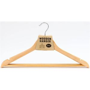 木製ハンガー/MA 3PCSセット  ナチュラル