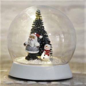 ヤマダオリジナル クリスマス用 雑貨 スノードーム 幅9.5cm×奥行9.5cm×高さ10.0cm