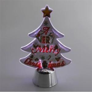 ヤマダオリジナル クリスマス用 LEDライト ツリー 幅9.5cm×奥行4.5cm×高さ14.5cm