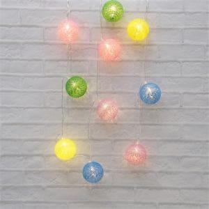 ヤマダオリジナル クリスマス用 LEDライト 和風 ボール 幅285.0cm×奥行5.0cm×高さ5.0cm