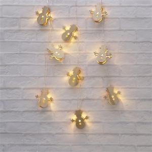 ヤマダオリジナル クリスマス用 LEDライト 雪だるま 幅285.0cm×奥行1.5cm×高さ6.0cm