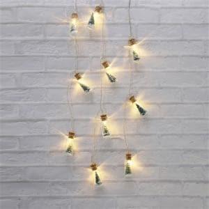 ヤマダオリジナル クリスマス用 LEDライト ボトル入りツリー 幅285.0cm×奥行2.0cm×高さ5.0cm
