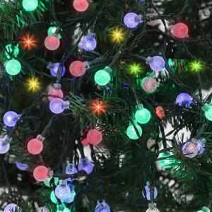 ヤマダオリジナル クリスマス用 LEDライト ガーランド ボール 幅1635.0cm×奥行1.4cm×高さ1.4cm
