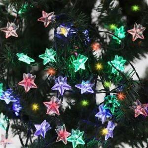 ヤマダオリジナル クリスマス用 LEDライト ガーランド スター 幅585.0cm×奥行0.5cm×高さ1.5cm