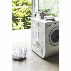 山崎実業 マグネット洗濯ハンガー収納ラックプレート