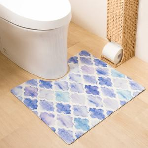 PVCトイレマット モロッカン 抗菌・防臭&防カビ&防炎 もちもちクッションで使い心地もバッチリ ヨコズナクリエーション㈱