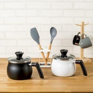 マルチポット マルチに使える 話題の鍋 ホワイト 炒める 煮る 沸かす 炊く [2.5L] 27.5×17.5×17.0cm