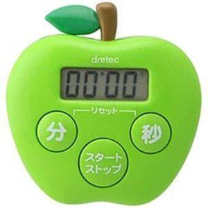 ドリテック T-534GN キッチンタイマー りんごタイマー グリーン