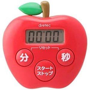 ドリテック T-534RD キッチンタイマー りんごタイマー ピンク