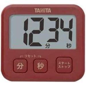タニタ TD-408-RD デジタルタイマー「薄型タイマー」レッド