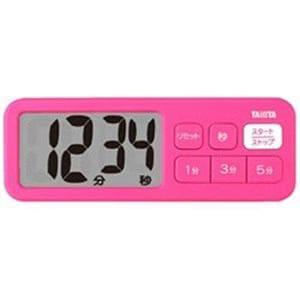タニタ TD-395-PK デジタルタイマー でか見えプラスタイマー ピンク
