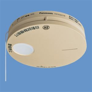 パナソニック SHK32427YK けむり当番薄型2種(電池式・ワイヤレス連動子器)(警報音・音声警報機能付)(和室色)