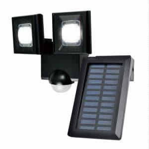 ELPA ESL-N112SL 屋外用LEDセンサーライト ソーラー式 2灯 白色/ソーラー式