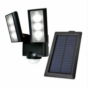 ELPA ESL-312SL ソーラー発電式 LEDセンサーライト 2灯 白色/ソーラー式
