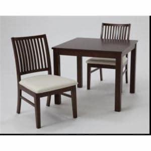 ダイニングテーブル 2人掛け 幅75x奥行75x高さ70cm ダークブラウン BANT75(DB)